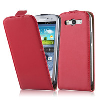 Premium Luxury Commercial Flip Genuine Leather Phone Case Cover For Samsung Galaxy S3
