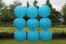 wholesale cheap14inch(35cm)Chinese handmade indoor hanging round paper lanterns for wedding party decoration
