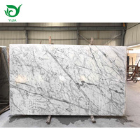 Best price big dolomite polished white statuario marble slab