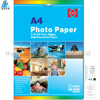 A4-180gsm glossy photo paper / Inkjet photo printing paper