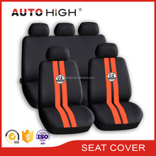 Racing sporty universal polyester car seat cover screen printing with wheel cover shoulder pads full set seat cover