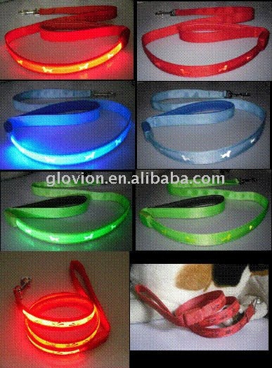 led pet leashes and collars led retractable pet leash led pet safe collar