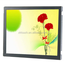 Cheap 15 inch LCD monitor with resistIve/IR/capacitive/SAW touch screen