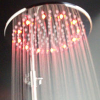 2013 luxury romantic RGB color change top shower led