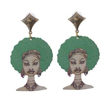 custom wooden african earrings for women wholesale custom shape wood earrings jewelry