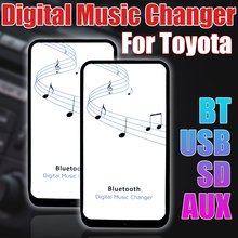 Car audio system digital music changer with Bluetooth USB SD AUX adapter for Lexus