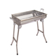 Combo Travel Charcoal BBQ Stainless Steel Fold Up Compact Barbecue Grills