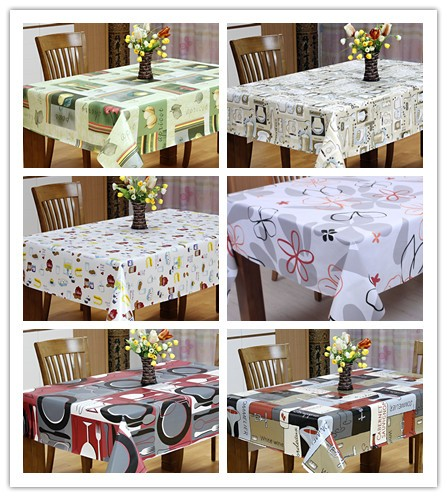 plastic teapoy cloth side table pvc cloth decoration with non woven backing