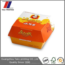 cheap food grade hamburger paper box paper hamburger box paper burger packaging box