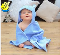 Ubest Double sided velour weft microfiber kids hooded beach towel/poncho