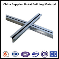 2016 new China supplier galvanized steel suspended ceiling flexible building material black line t grid bar