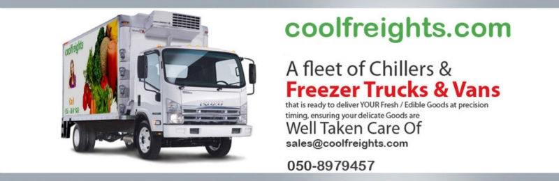 Coolfreights Refrigerated Truck for rent, Chiller Truck for rent, Freezer trucks, Chiller van, freezer van, dubai truck