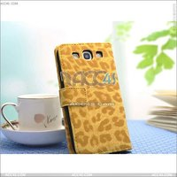 Leopard Flip PU Leather Stand Case Pouch for Samsung Galaxy S3 S III i9300---P-SAMI9300CASE004