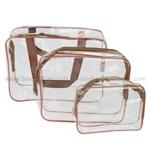 China branded zip PVC bags cosmetic pouch