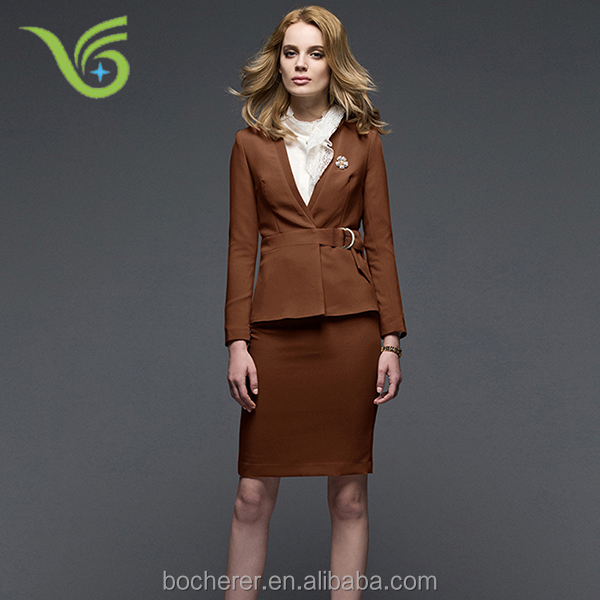 Women slim formal suits, jacket and pants set