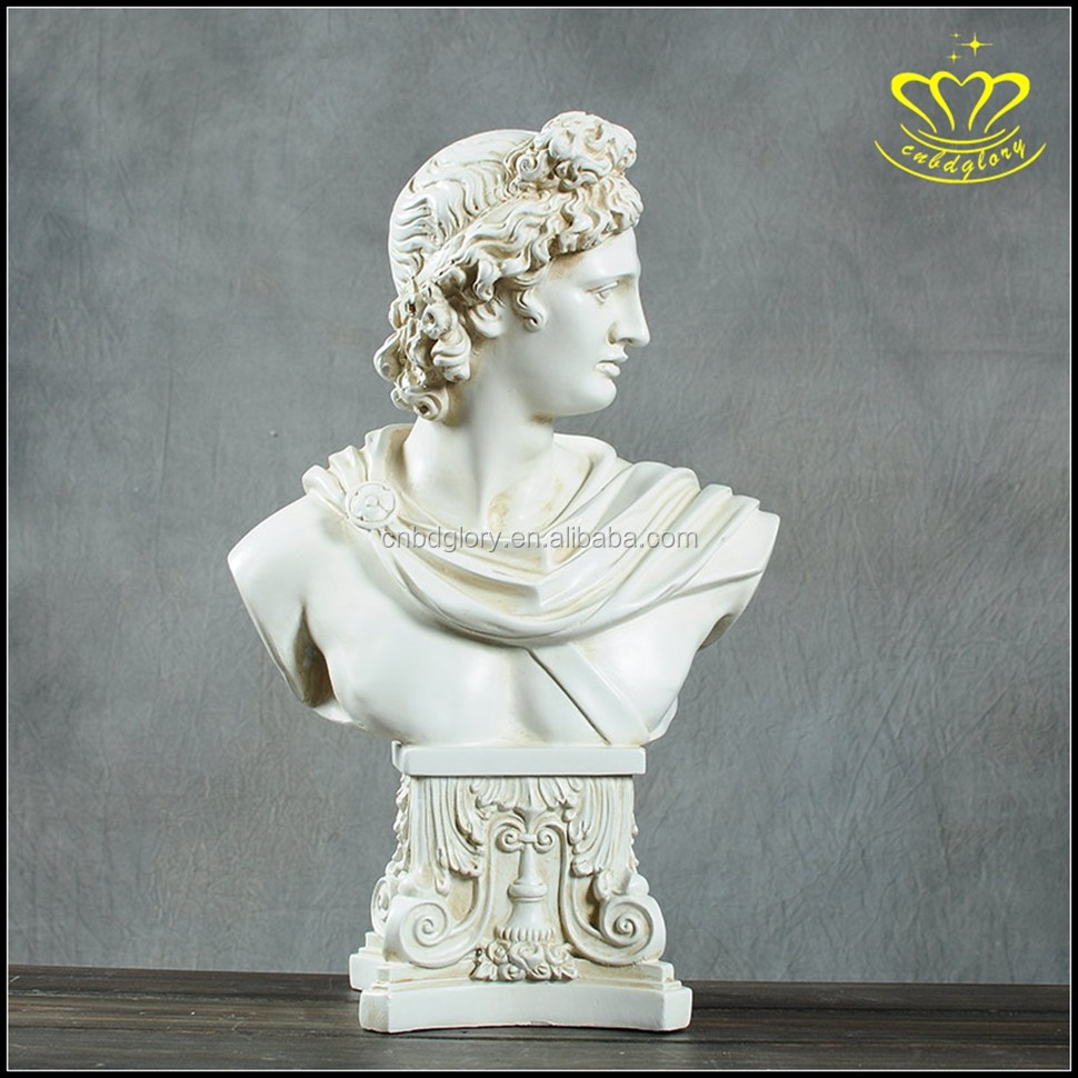 Desk Decor European Venus David Bust Statue White marble Resin Sculpture