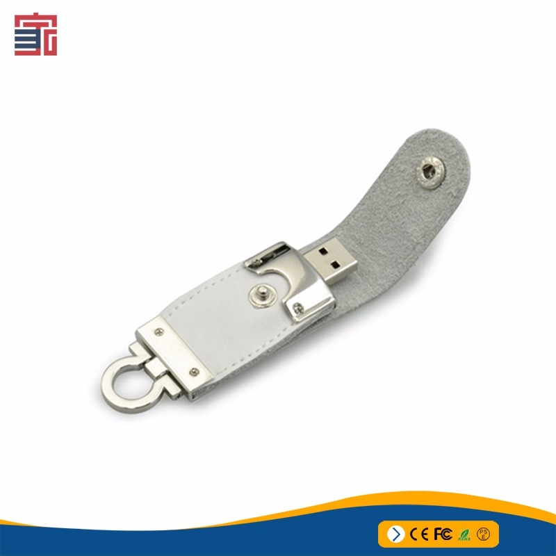 Rohs high quality flash drive memory stick key chain 4GB Leather usb pendrive