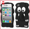 2013 New Product Soft 3D Silicone Cover Animal Mobile Phone Case for Iphone 4 4s