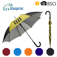 "23"" 8 panels rain and sun straight umbrella for promotion"