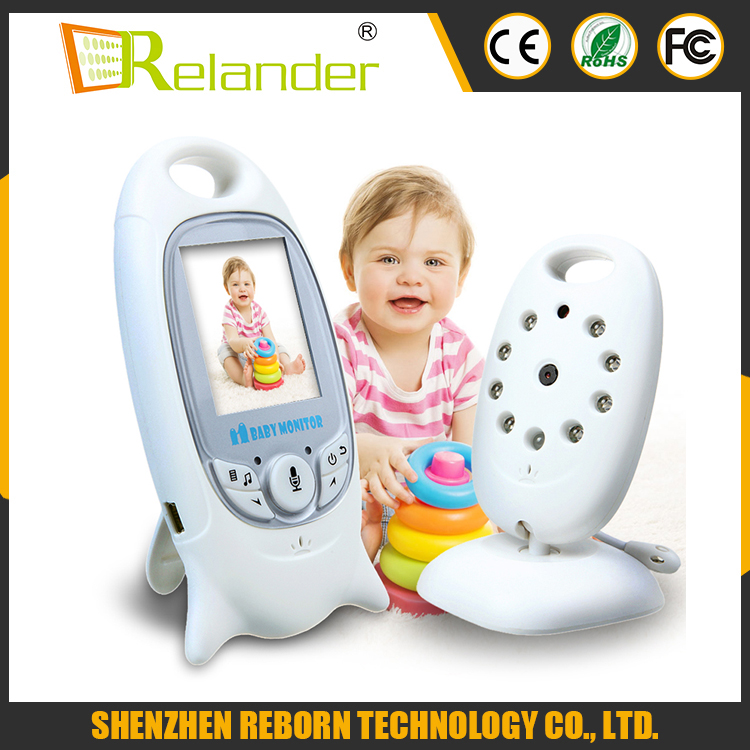 Two way talk 2.0 inch LCD wireless video baby monitor 2.4GHz with IR Nightvision Temperature