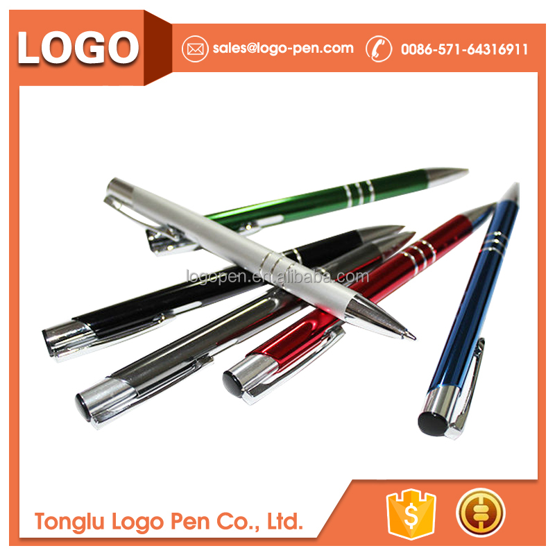 Hot selling Blue or black cheap metal pen with logo