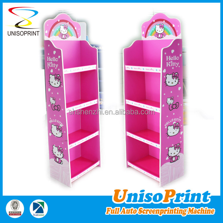 Customized China supplier design fashionable pp plastic merchandising toys for kids display rack
