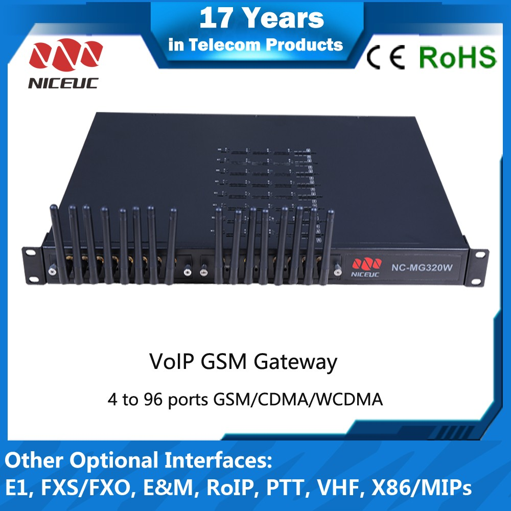 Metal shell support DHCP server 16 channels sim card VoIP Gateway, GSM VoIP Adapter