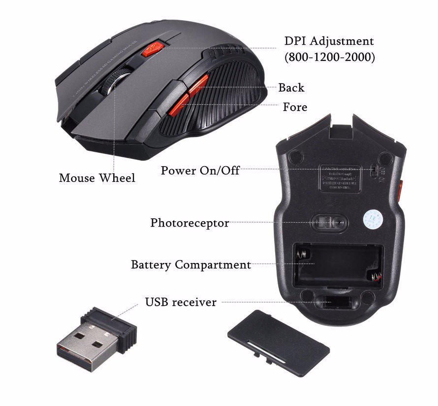 Professional Computer 6D Gaming Mouse Wireless