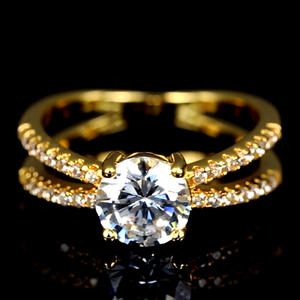latest designs glass wedding jewelry gold plated ring for girls