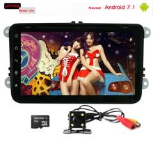 Touch Screen Android 7.1 Auto Stereo Radio GPS Car DVD 2din VW Universal Android 7.1 Car DVD Player with 1.6GHz CPU Radio
