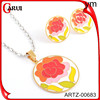 Colourful flower jewelry sets earrings and necklace set wholesale