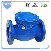 DIN standard ductile iron PN16 swing check valve