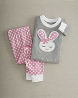 spring and fall cozy pink ear bunny children holiday sleepwear