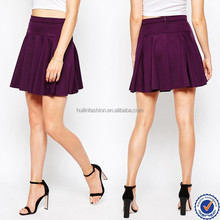 brand clothing factory ladies flared shape skirts with pleats please in apparel