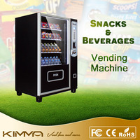 Small size puffed food and beer automatic vending machine at factory