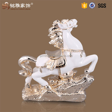 Home decoration horse and beauty statue small table resin animal horse figurine