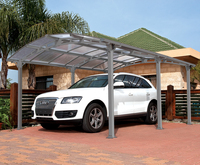 XINHAI One car outdoor Aluminium modern cheap carports with polycarbonate sheet roof