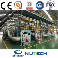 High oil output used tire machine waste recycling machinery with CE/TUV/SGS