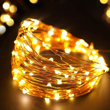 Solar Powered Water Proof Copper Wire led String Lights chain for Christmas Holiday Home Decoration
