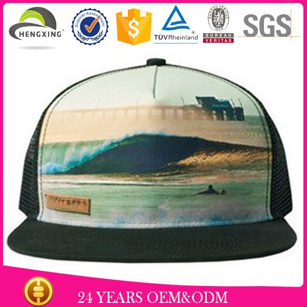 custom pattern 5 panel paypal / hat cap label patch nylon snapback/ camping cap hat high quality
