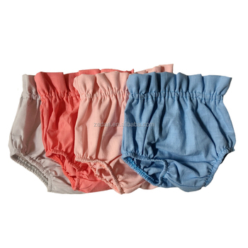 Hot selling unique stylish linen plain color unisex baby shorts in exceptional quality