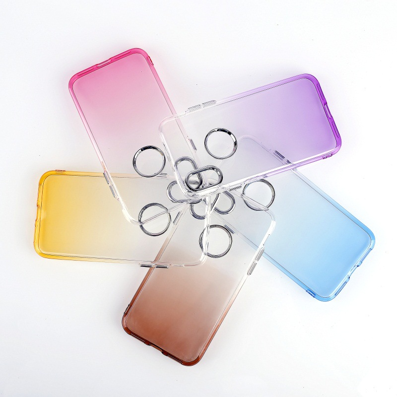 Luxury Gradient electroplating tpu case for iphone X , for iphone X plating case
