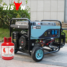 BISON Hot Air Cooled 4 Stroke 5kw Portable LPG Gas Generator Price