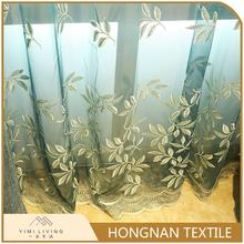 Hot selling cheap nice embroidered ready made curtain