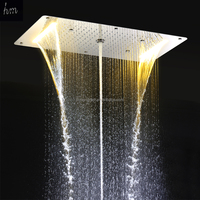 2016 new style five function electric ceiling mounted led big rain shower head