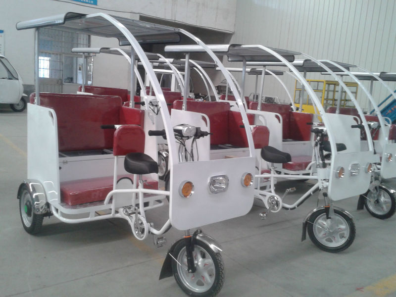new design electric solar tourist tricycle/bicycle for sale