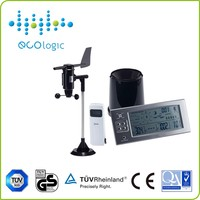 LCD indoor and outdoor temperature & humidity & rainfall & wind speed & direction of multifunction wireless weather station