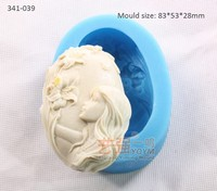 silicone lady sniff flower chocolate mould,silicone soap mold,fondant cake decorating modeling tools