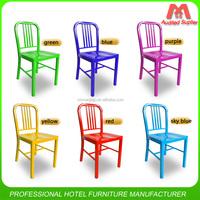 Modern design aluminum navy chair