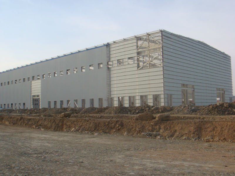 two story prefabricated modern structural steel fabrication building